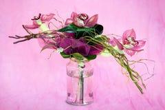 Ramalhete das orquídeas fotografia de stock royalty free