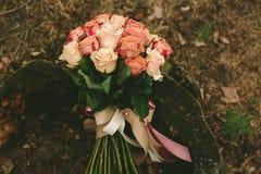 Ramalhete das rosas do casamento da mola Imagem de Stock
