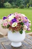 Ramalhete das rosas, do eustoma e da hortênsia Fotografia de Stock Royalty Free