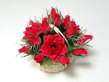 Ramalhete das rosas e dos chocolates do papel Foto de Stock Royalty Free