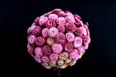 Ramalhete das rosas feitas do papel, casamento da decoração Foto de Stock Royalty Free