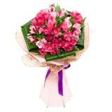 Ramalhete das tulipas para a mulher Foto de Stock Royalty Free