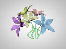 Ramalhete de flores coloridas Foto de Stock Royalty Free
