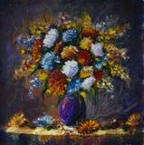 Ramalhete de flores selvagens em um vaso ilustração stock