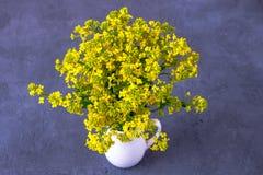 Ramalhete de flores selvagens em um vaso imagens de stock royalty free