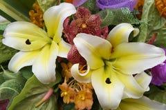 Ramalhete de flores tropicais coloridas Fotografia de Stock