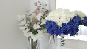 Ramalhete de HD de flores frescas Ramalhete nupcial Wedding Flores de Weding vídeos de arquivo