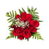 Ramalhete de Rosa de cima de fotos de stock royalty free