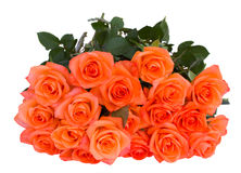 Ramalhete de rosas alaranjadas imagens de stock royalty free
