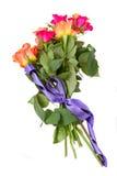 Ramalhete de rosas alaranjadas e cor-de-rosa imagem de stock royalty free