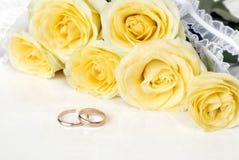 Ramalhete de rosas amarelas Imagem de Stock Royalty Free