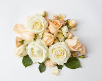 Ramalhete de rosas bege Fotografia de Stock Royalty Free