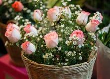 Ramalhete de rosas bonitas Foto de Stock Royalty Free