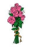 Ramalhete de rosas cor-de-rosa Foto de Stock