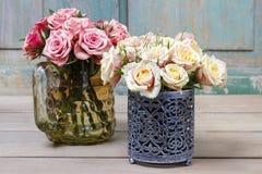 Ramalhete de rosas cor-de-rosa Fotografia de Stock Royalty Free