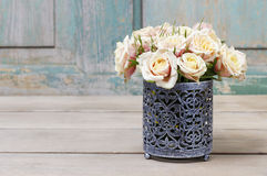 Ramalhete de rosas cor-de-rosa Fotos de Stock Royalty Free