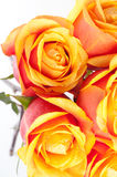 Ramalhete de rosas cor-de-rosa no vaso imagem de stock royalty free