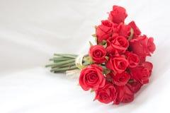 Ramalhete de rosas vermelhas Fotografia de Stock