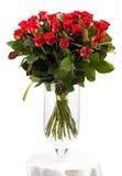 Ramalhete de rosas vermelhas sobre o branco Foto de Stock