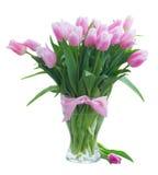 Ramalhete de tulipas amarelas, roxas e vermelhas Imagem de Stock