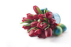 Ramalhete de tulipas vermelhas Foto de Stock Royalty Free