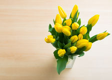 Ramalhete de tulips amarelos Fotos de Stock Royalty Free