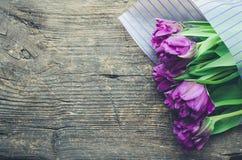 Ramalhete de tulips roxos Foto de Stock Royalty Free