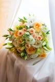 Ramalhete delicado bonito da noiva, dia do casamento Imagem de Stock Royalty Free