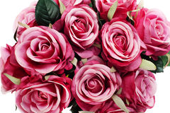Ramalhete do artificial das rosas isolado Fotografia de Stock