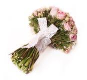 Ramalhete do casamento com arbusto cor-de-rosa Fotografia de Stock Royalty Free
