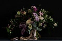 Ramalhete do casamento com lilás Fotos de Stock Royalty Free