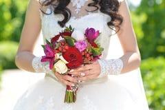 Ramalhete do casamento da noiva Foto de Stock