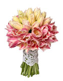 Ramalhete do casamento de tulipas amarelas e cor-de-rosa Imagens de Stock Royalty Free