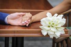 Ramalhete do casamento do calla branco Foto de Stock Royalty Free