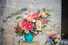 ramalhete do casamento do vintage fotos de stock