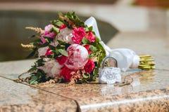 Ramalhete do casamento, flores, rosas, ramalhete bonito Fotos de Stock