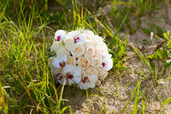 Ramalhete do casamento na praia Fotos de Stock Royalty Free