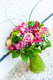 Ramalhete do casamento no fundo branco Imagens de Stock