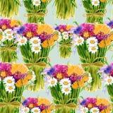 Ramalhete do fundo dos wildflowers watercolor Fotos de Stock