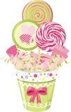 Ramalhete do Lollipop ilustração stock