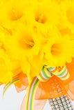 Ramalhete do narciso amarelo da trombeta da mola Foto de Stock Royalty Free