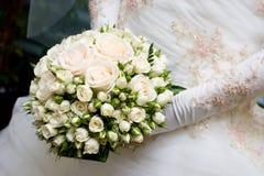 Ramalhete do vestido e da flor Imagem de Stock Royalty Free