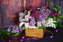 Ramalhete do vintage de flores do lilás do verão Foto de Stock