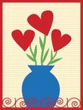 Ramalhete dos corações ilustração do vetor