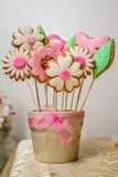 Ramalhete dos doces das flores das cookies fotografia de stock