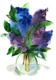 Ramalhete dos Lilacs em um vaso Imagens de Stock