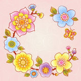 Ramalhete fino do verão com borboleta. Imagens de Stock