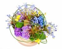 Ramalhete floral colorido das rosas, dos cravos-da-índia e das orquídeas Imagem de Stock