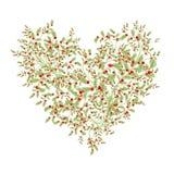 Ramalhete floral para seu projeto, forma do amor do coração Imagens de Stock Royalty Free