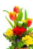 Ramalhete. flores em um fundo branco. Fotografia de Stock
